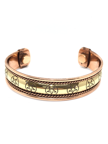 Pentacle Copper Bracelet