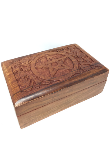 Pentagram Wooden Box