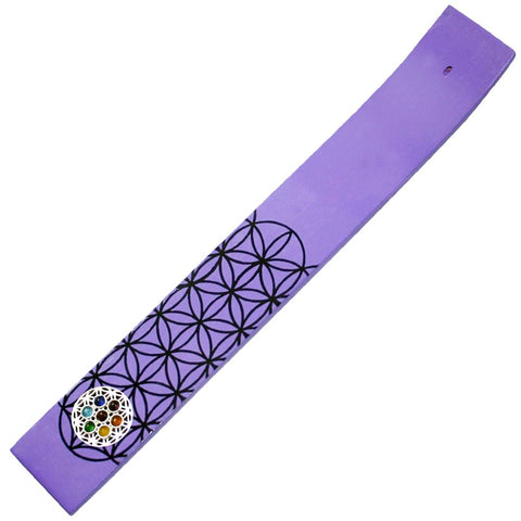 Flower Of Life Wooden Incense Holder