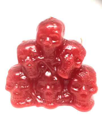 Red Stack Of Skulls
