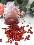 Red Coral Crystal Chips - 100g