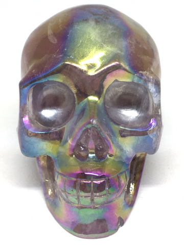 Aura Clear Quartz Skull #316