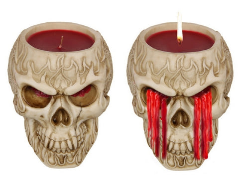 Skull Candle Weeping Blood