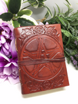 Pentacle Leather Notebook/Journal/Book Of Shadows - Small