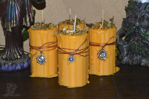 Success & Wishes Spell Candle - Lyllith Dragonheart