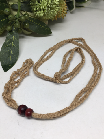 Tan Macrame Necklace