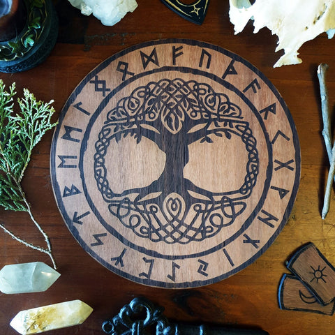 Tree Of Life / Yggdrasil Norse Viking Altar Tile - Yiska Designs
