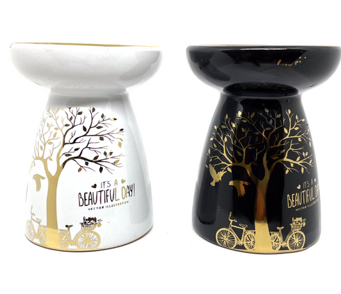 Tree Of Life Oil Burner 12cm - Black or White