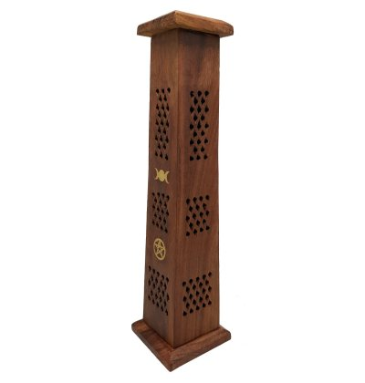 Triple Moon Pentacle Incense Tower