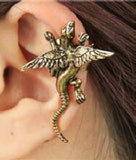 Wing Serpent Earring - Gold