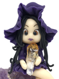 Witch on Amethyst Cluster # 458