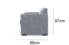 Bowral 2 Seater Lounge Depth Height