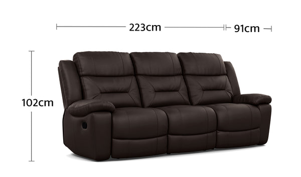 Becky 3 Seater Dimensions