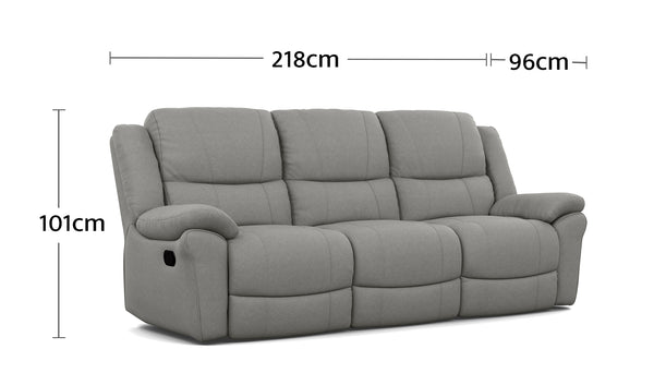 Boston 3 Seater Dimensions