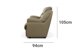 Comfy 3 Seater Depth Height