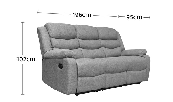 Cleveland 3 Seater Dimensions