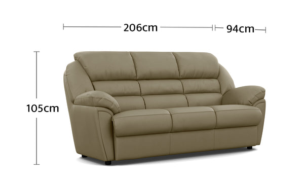 Comfy 3 Seater Dimensions