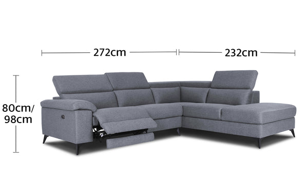 Como 4 Seater Chaise Dimensions