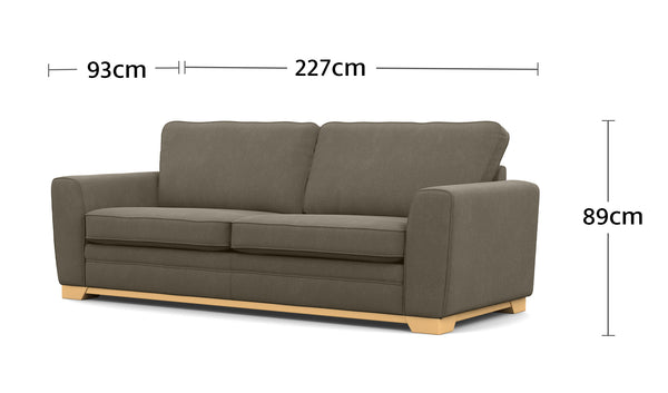 Fairhaven 2.5 Seater Dimensions