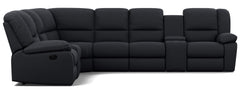 Harmony 6 Seater Corner Modular with 5 Recliners and 2 Consoles