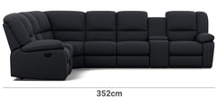 Harmony 6 Seater with 5 Recliners and 2 Consoles Width