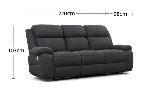 Harley 3 Seater Dimensions