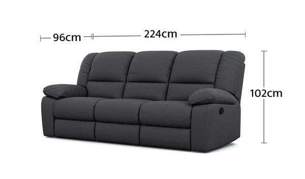 Harmony 3 Seater Dimensions