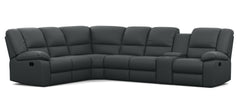 Harmony 6 Seater Corner Modular with 5 Internal Recliners and 1 Console