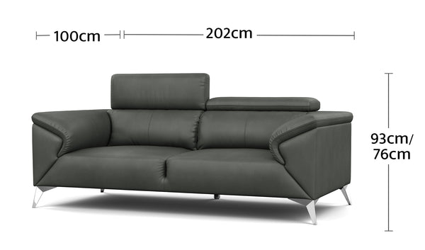 Magic 2.5 Seater Dimensions