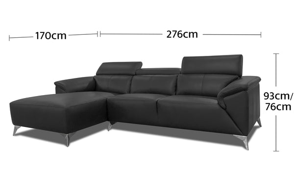 Magic 3.5 Seater Chaise Dimensions