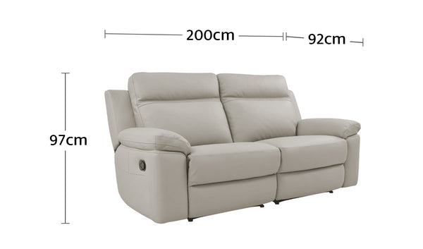 Monica 2.5 Seater with End Recliners Dimensions