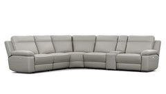 Monica 5 Seater Corner Modular with End Electric Recliners and Console