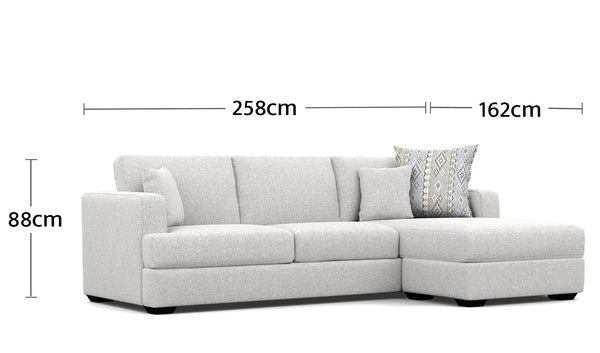 Mosman 3.5 Seater Chaise Dimensions