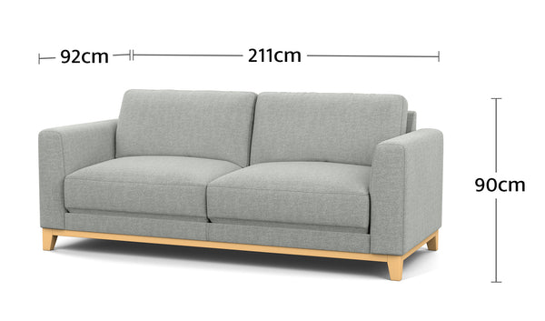 Nora 2.5 Seater Dimensions