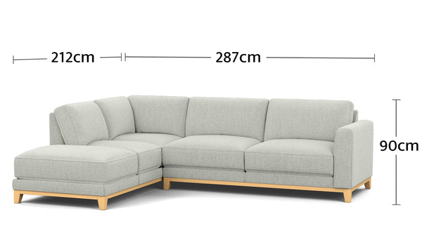 Nora 4.5 Seater Corner Chaise Dimesions