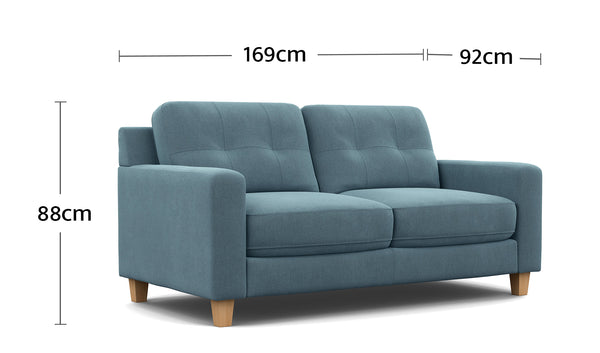 Perry 2.5 Seater Dimensions