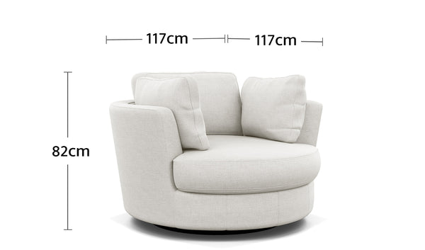 Perry Swivel Chair Dimensions