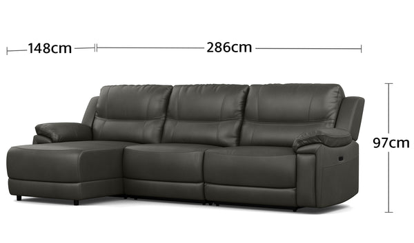 Raul 3.5 Seater Chaise Dimensions