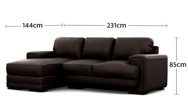 Royal 3 Seater Chaise Dimensions