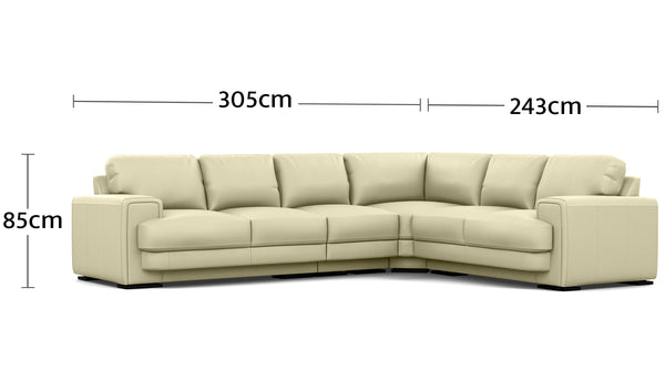 Royal 6 Seater Corner Modular Dimensions