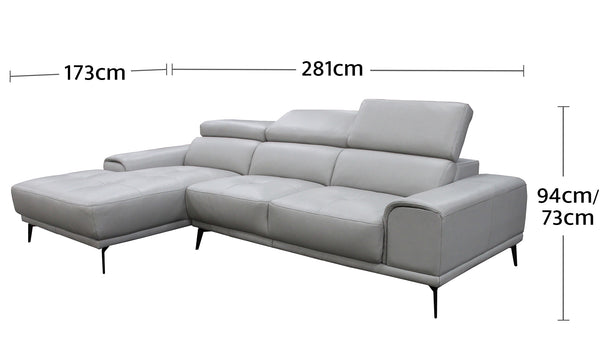 Santosa 3.5 Seater Chaise Dimensions