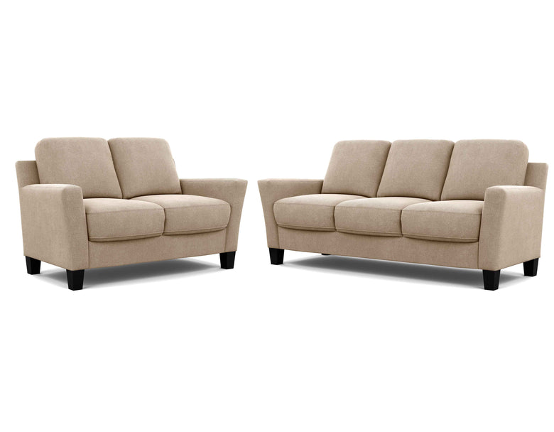 Alana 2 Seater + 3 Seater Lounge Package Ammonite Elmwood