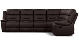 Becky 6 Seater Corner Modular with End Recliners