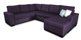Bayview 6 Seater Corner Modular with Reversible Chaise Beachcomber Amethyst