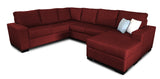 Bayview 6 Seater Corner Modular with Reversible Chaise Beachcomber Flame