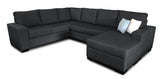 Bayview 6 Seater Corner Modular with Reversible Chaise Beachcomber Graphite
