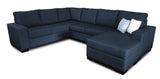 Bayview 6 Seater Corner Modular with Reversible Chaise Beachcomber Marine