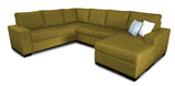 Bayview 6 Seater Corner Modular with Reversible Chaise Beachcomber Tumeric