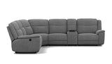 5 Seater Corner Modular with End Electric Recliners and 1 Console