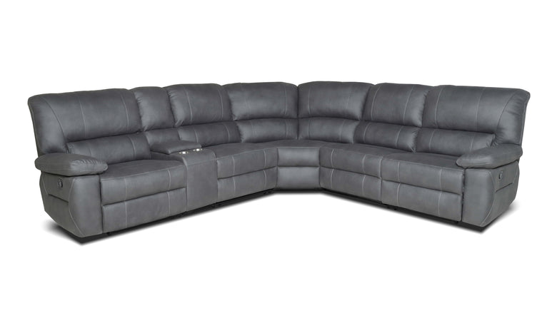 5 Seater Corner Modular with 3 Recliners and Console